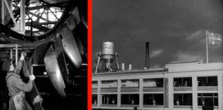 Billeder fra dansk Ford-fabrik i Sydhavnen i København. Fotos: Ford Motor Company fra filmen AROUND THE WORLD WITH FORD, PART III.