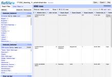 Vores gamle Danmark har især brugt programmerne OpenRefine og Microsoft Excel til at rense og analysere databasen over faldne sønderjyder. Her ses et billede fra førstnævnte program. Foto: Screenshot af Søren Kjær