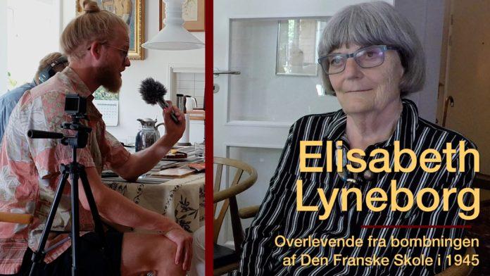 Elisabeth Lyneborg overlevede som barn bombningen af Den Franske Skole i 1945. Billedet her er fra et interviewprogram udgivet af Vores gamle Danmark.